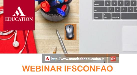WEBINAR CONFAO per Mondadori Education